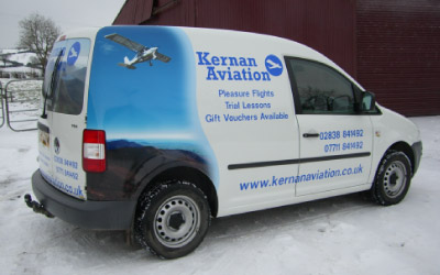Quarter Wrap Van Graphics